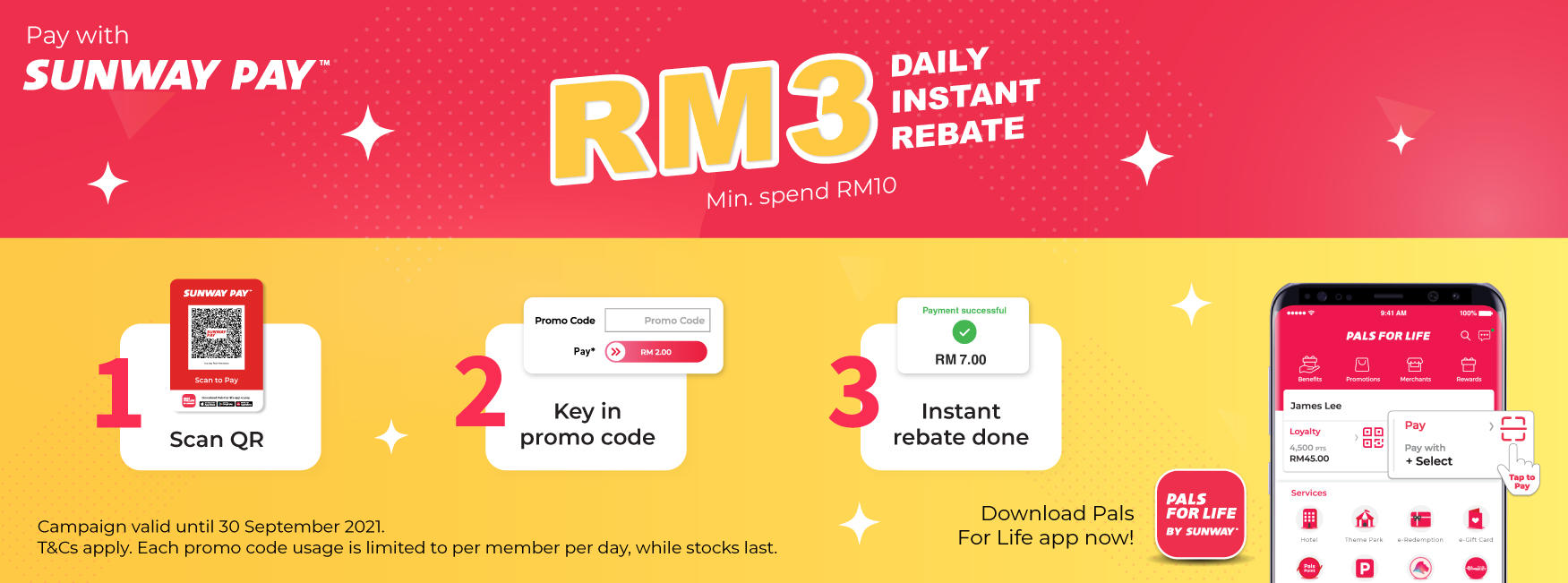 RM 3 Sunway Pay Campaign