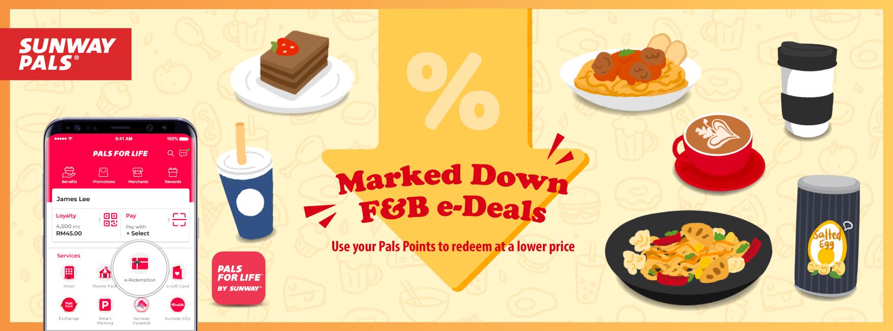 Marked down F&B e-Deals