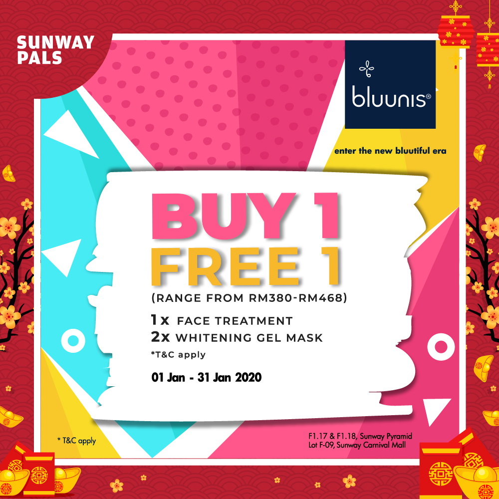 BUY 1 FREE 1 on Face Treatments & more!