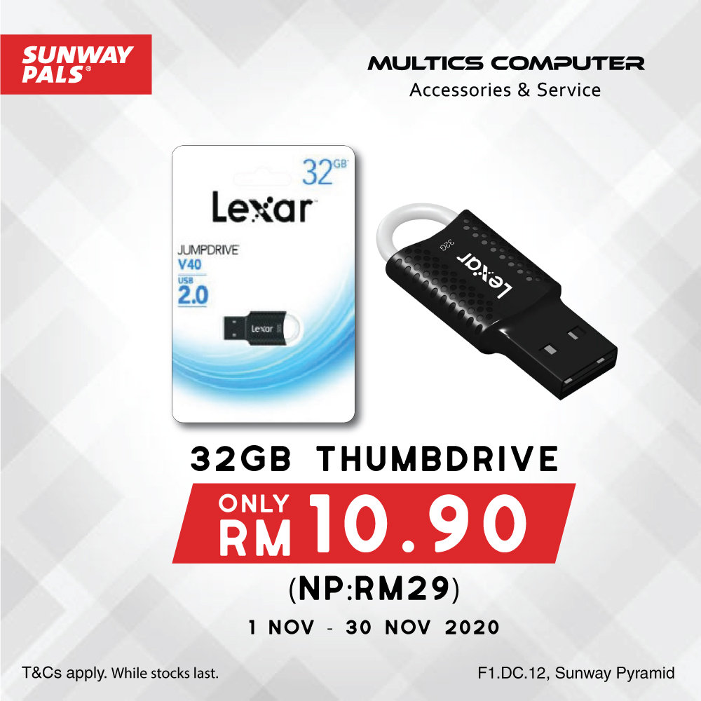 32GB Thumbdrive @ ONLY RM10.90