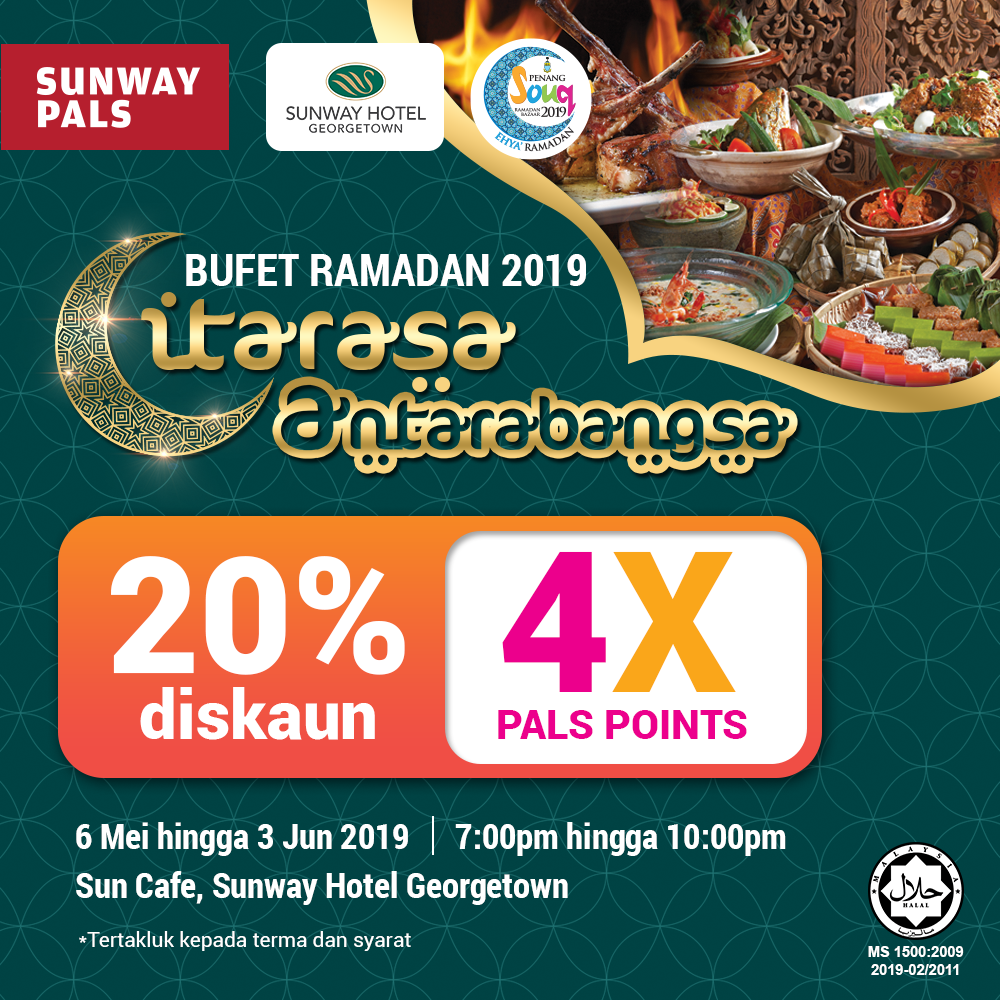 4x Pals Points + 20% off on the Ramadan Buffet