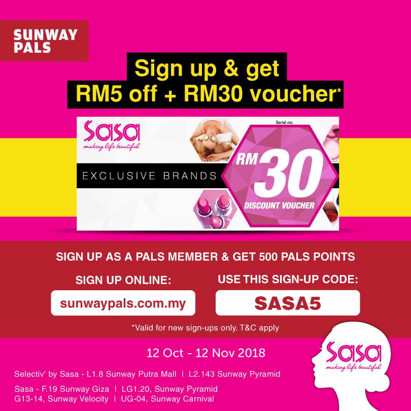 Sign Up & Get RM5 + RM30 Voucher