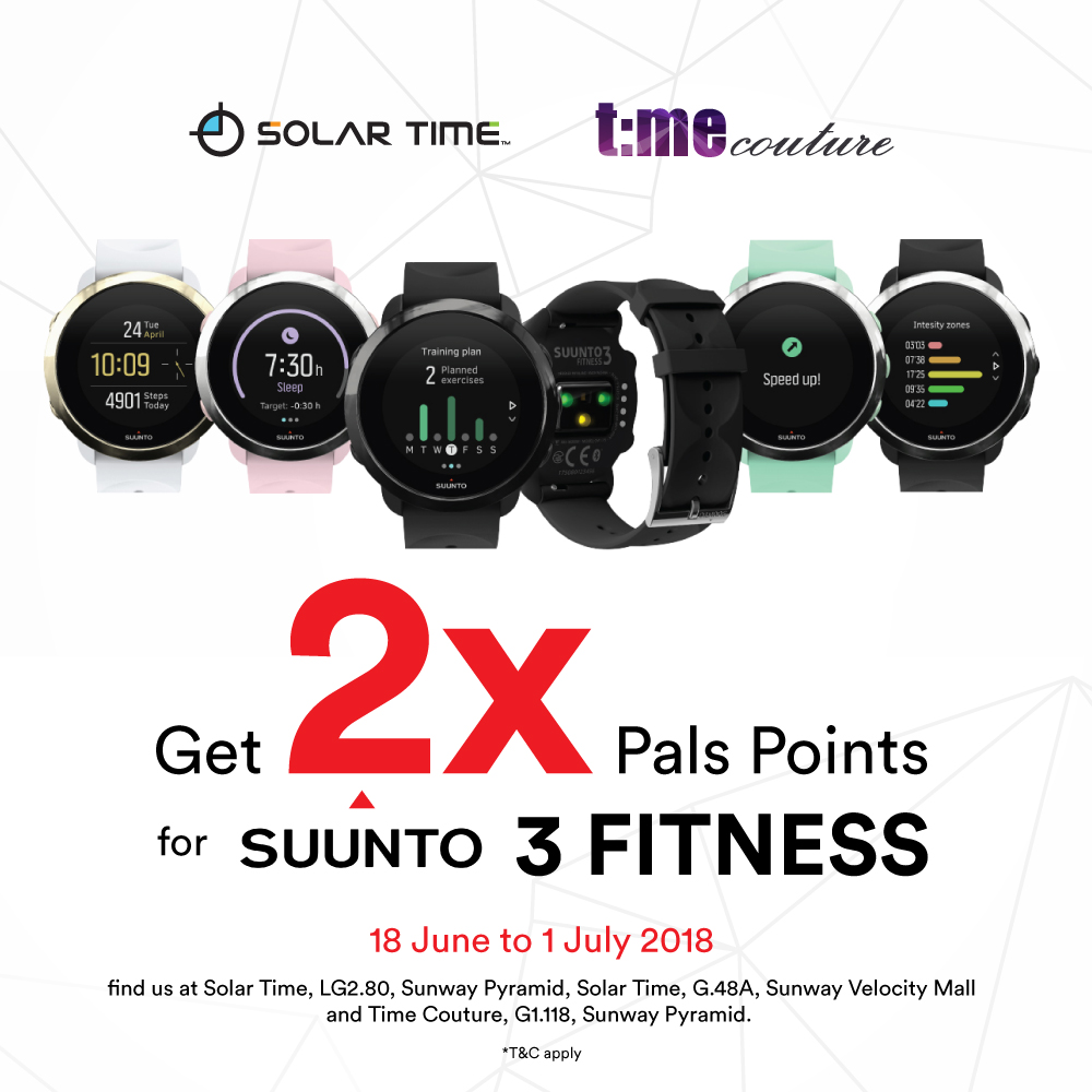 2x Pals Points on Suunto 3 Fitness watches