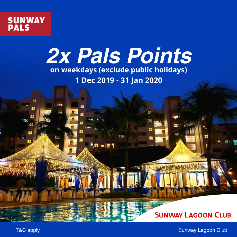 2x Pals Points for all Banquet Rentals
