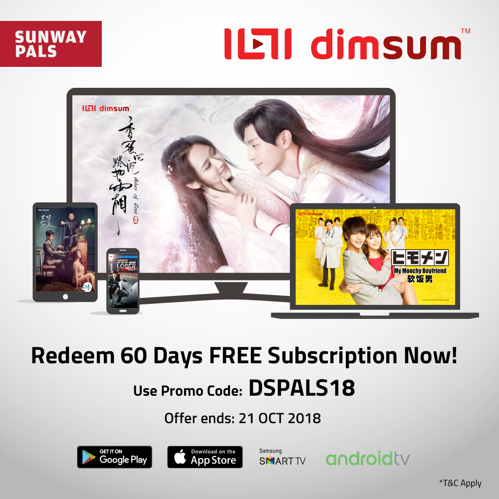 Get Dimsum 60 days' instant FREE access to Asian dramas and shows