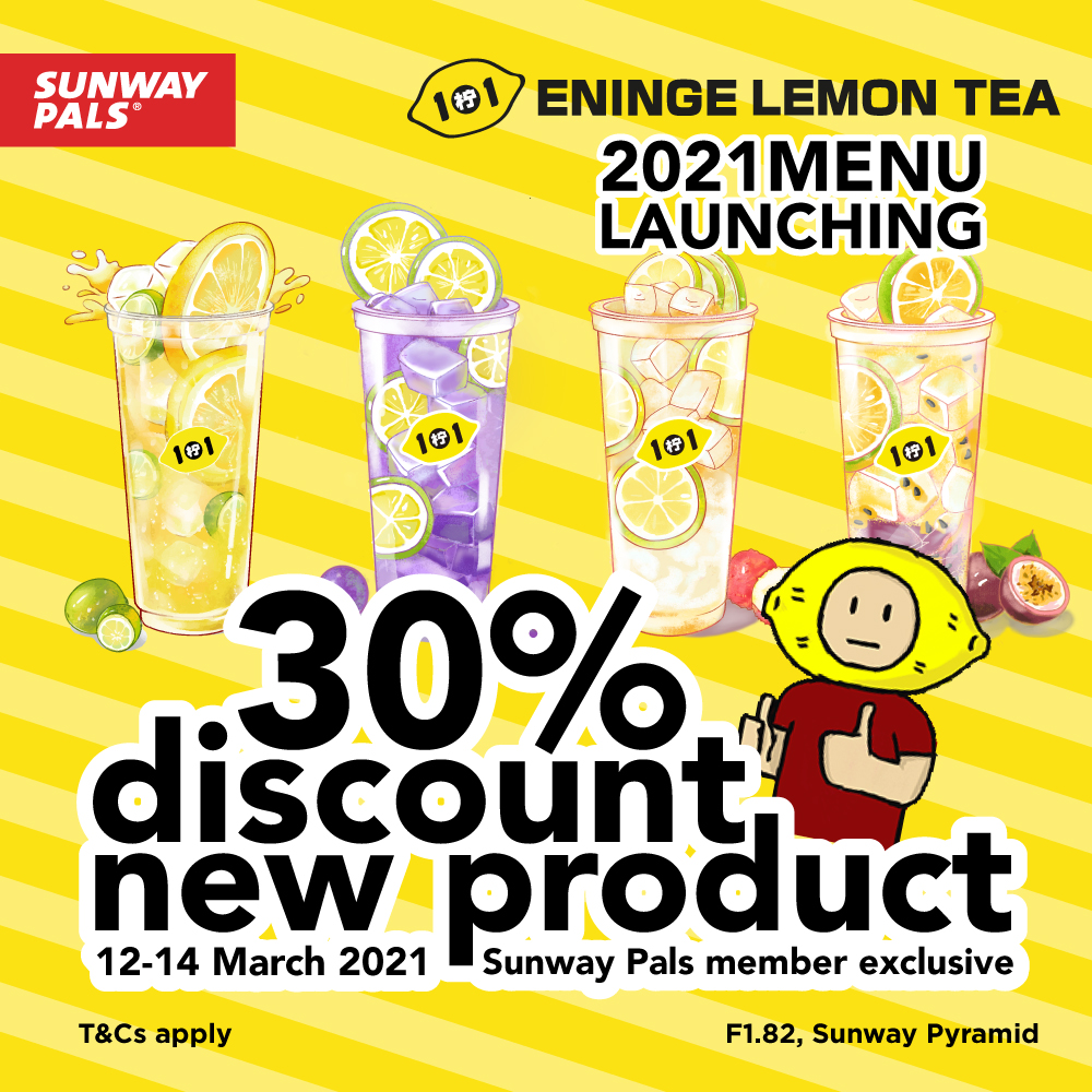 ADDITIONAL 10% OFF on top of 20% discount on new menu product