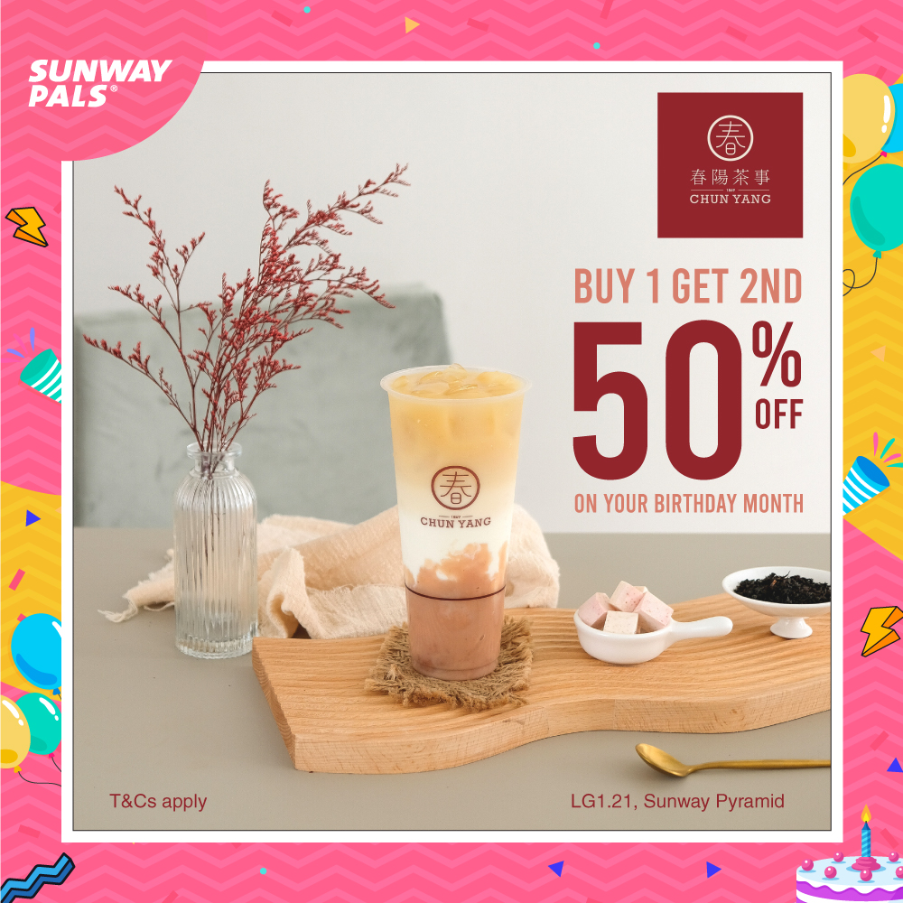 50% OFF on second cup