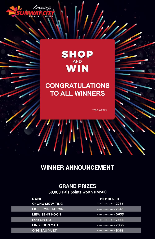 Sunway Pals Shop & Win
