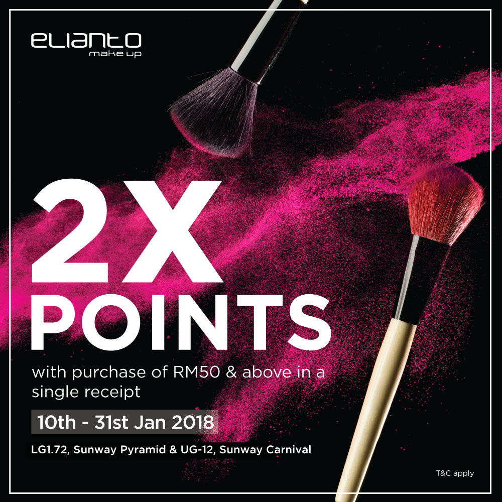 Earn 2x Points with Minimum Purchase