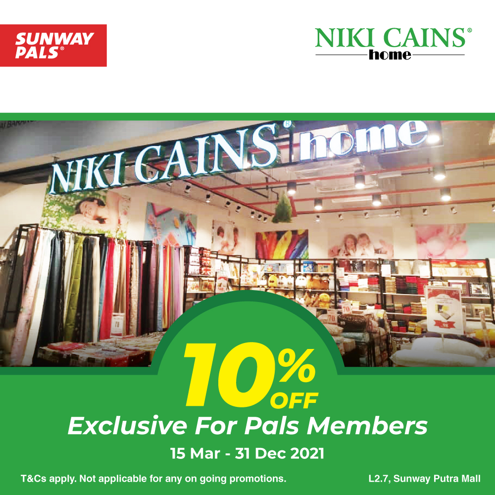 10% OFF for Sunway Pals members