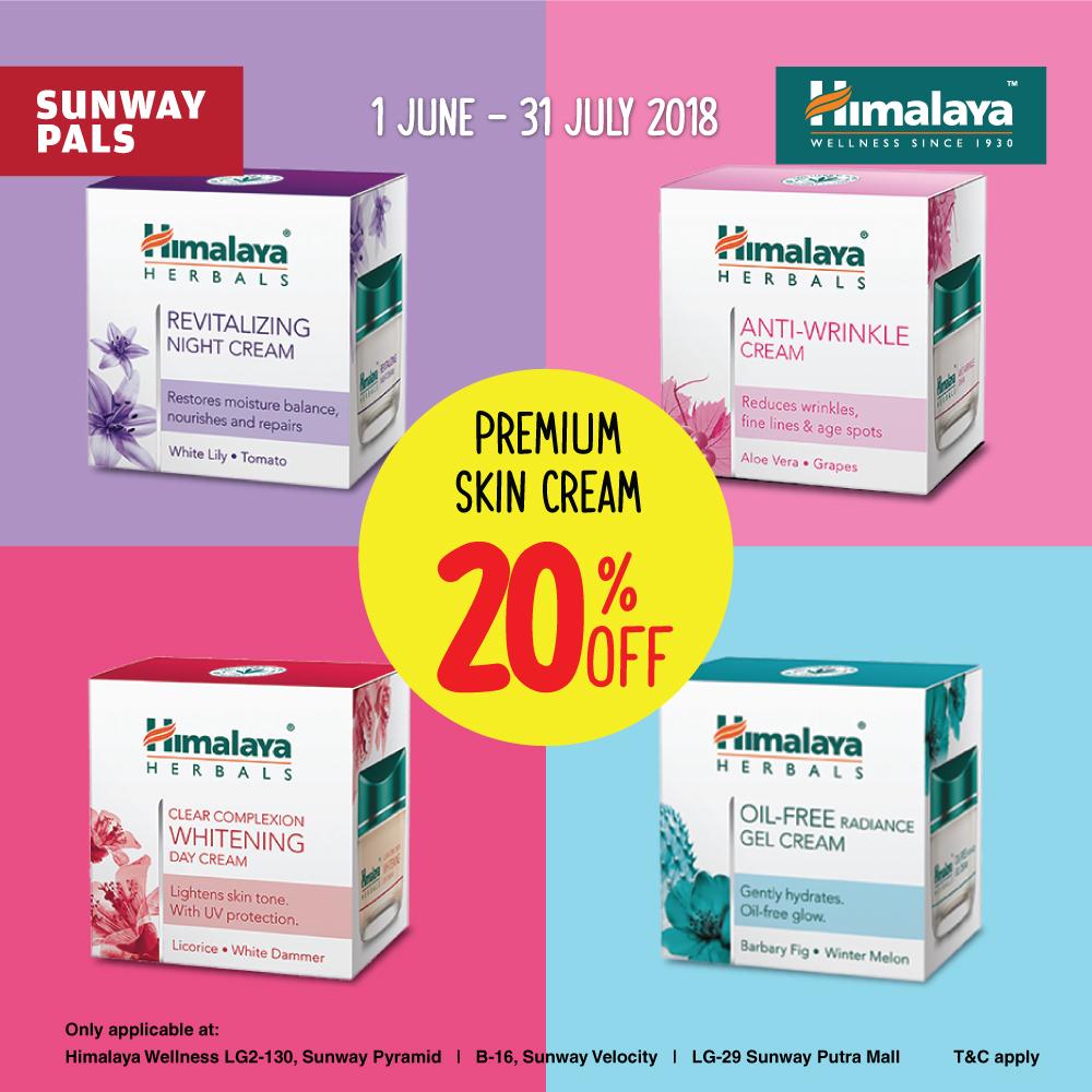 20% off on Premium Skin Creams