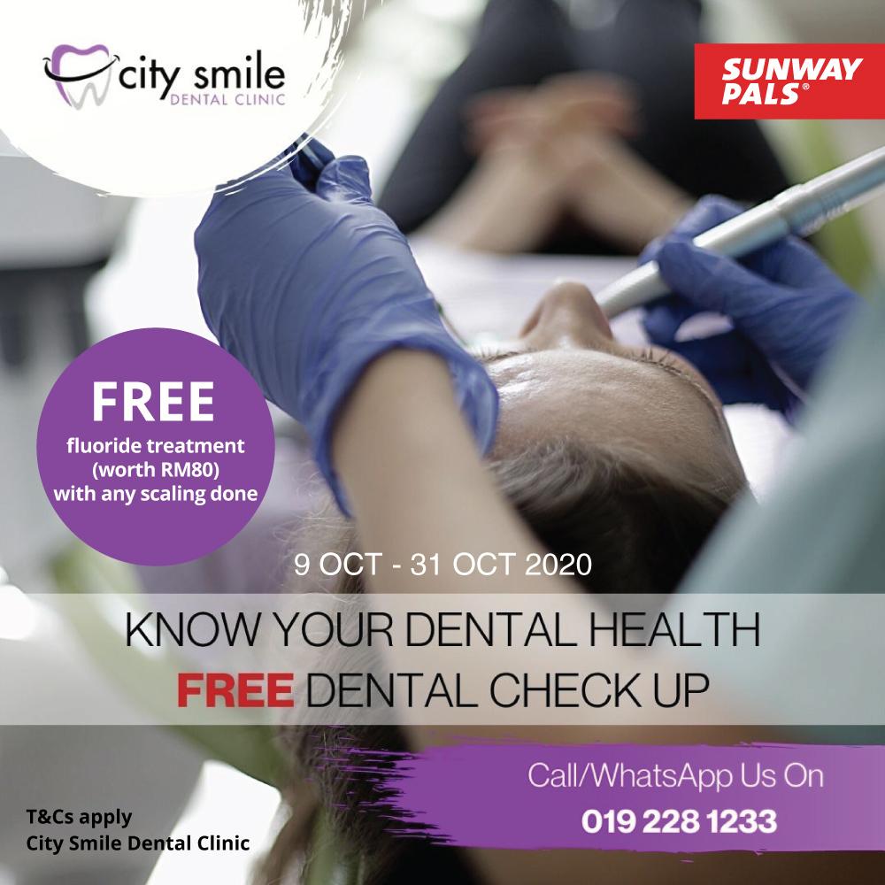 FREE Dental Check Up & Fluoride Treatment