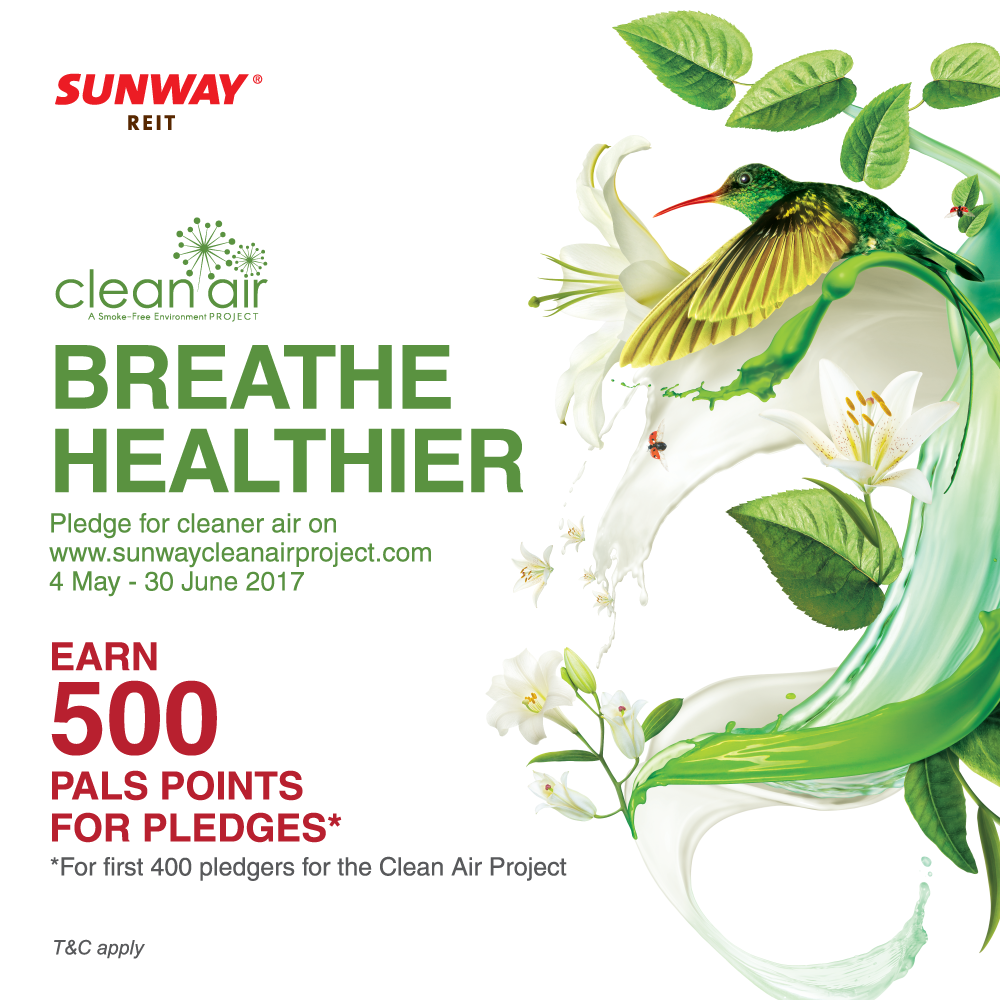 Pledge for clean air and earn 500 Pals Points