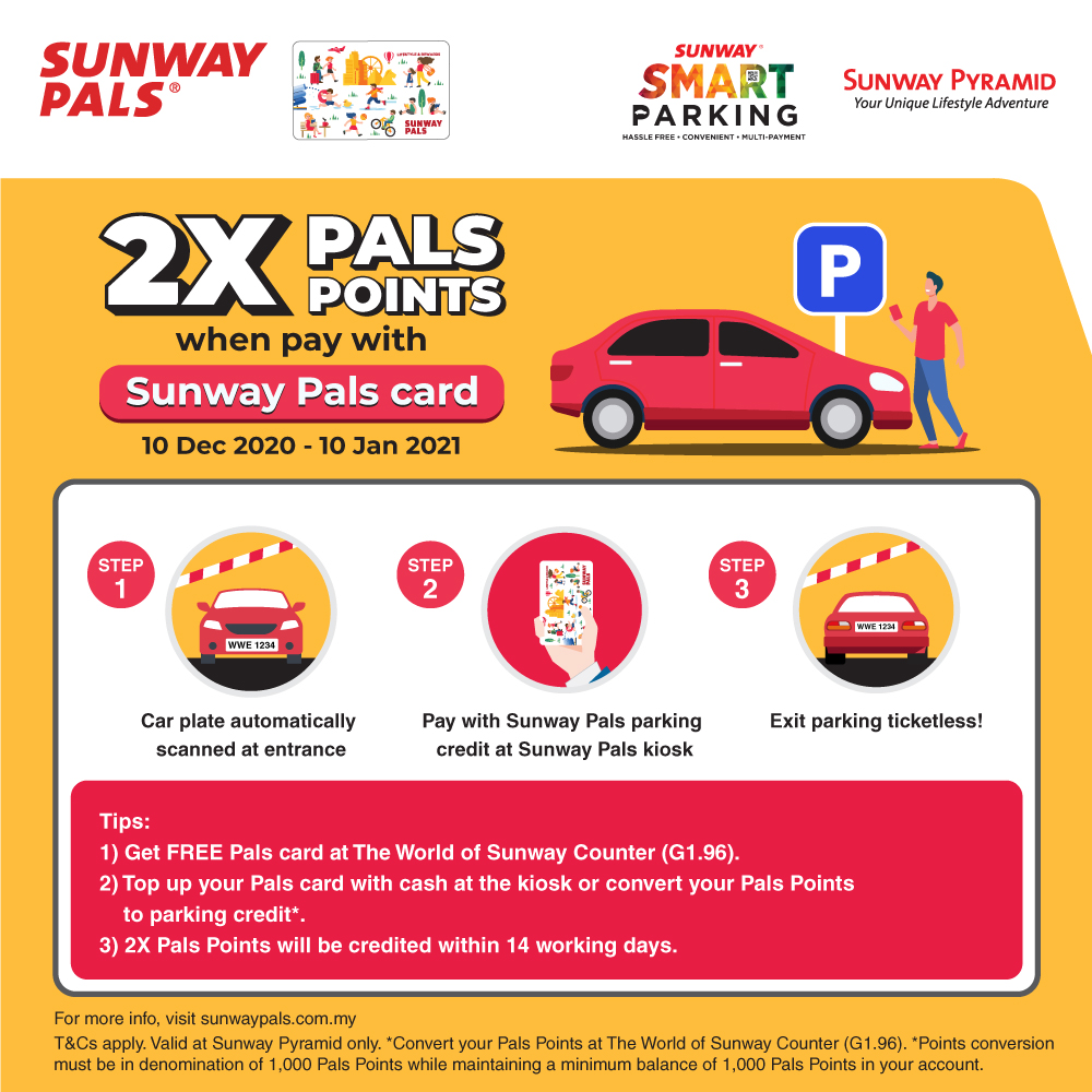 2X Pals Points with Parking