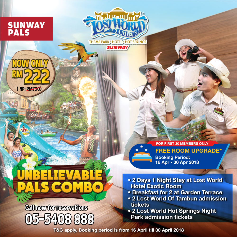 RM210 Combo Package & Free Room Upgrade