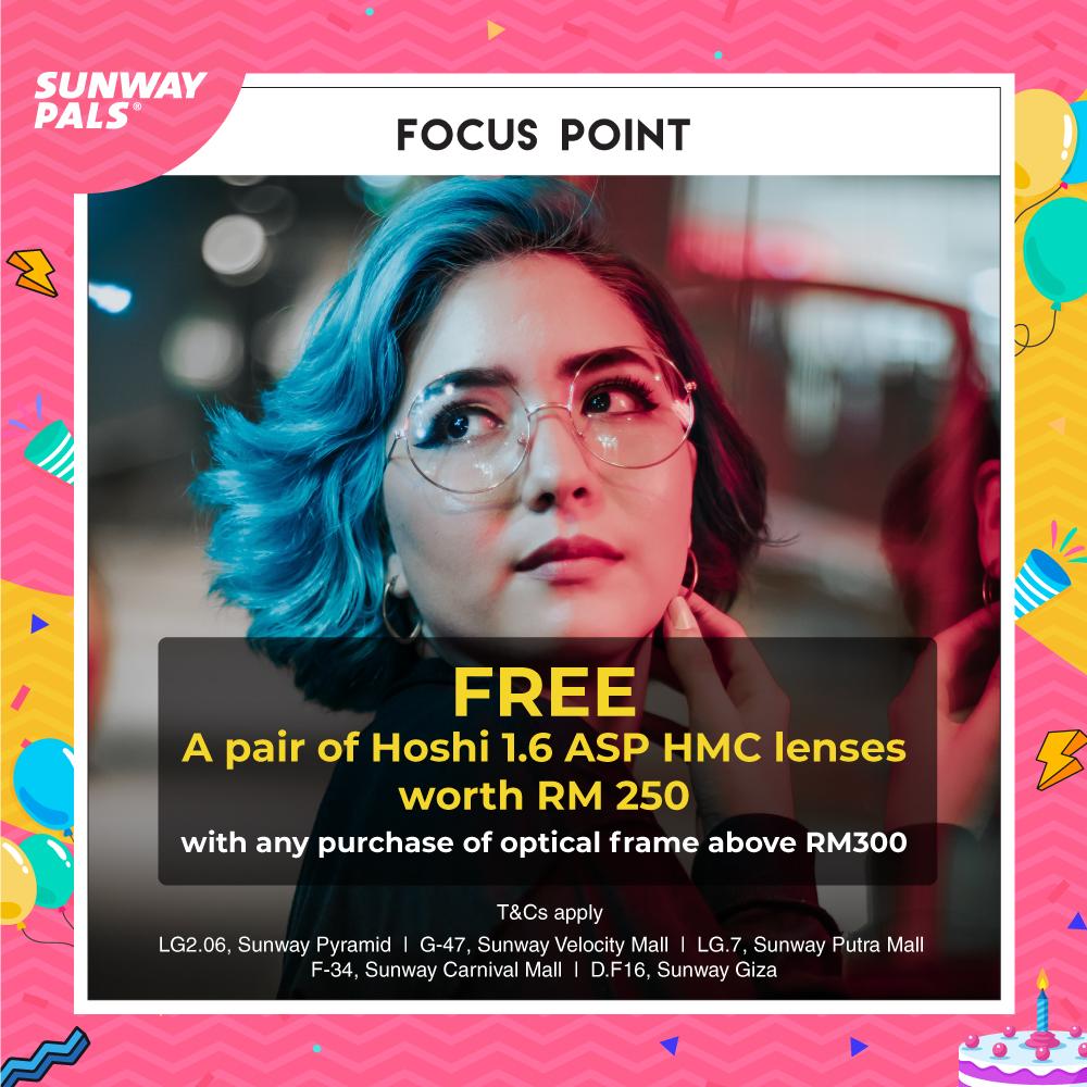 Free pair of Hoshi 1.6 ASP HMC lenses worth RM250