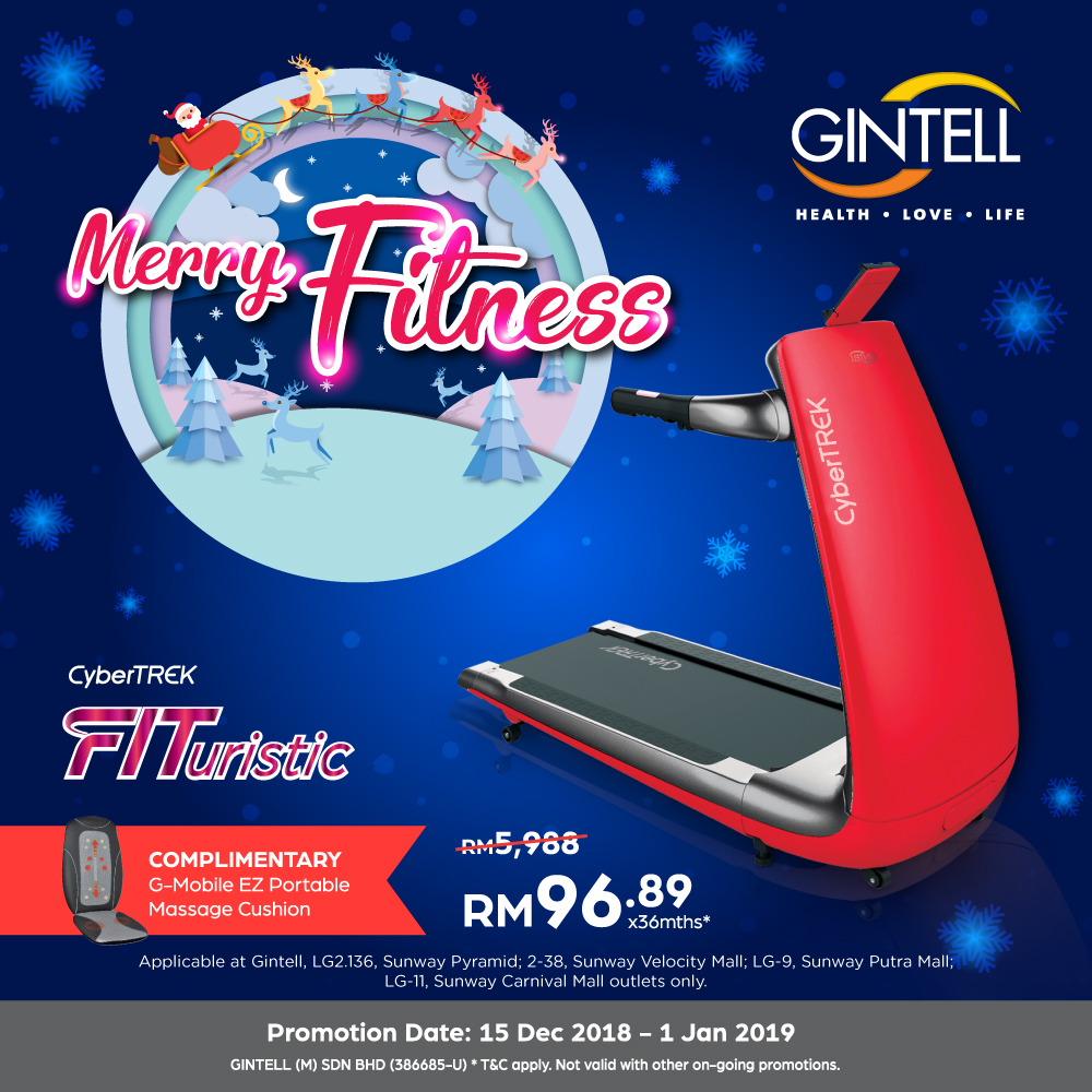 Special Price on CyberTREK FITuristic Treadmill + GWP: G Mobile EZ