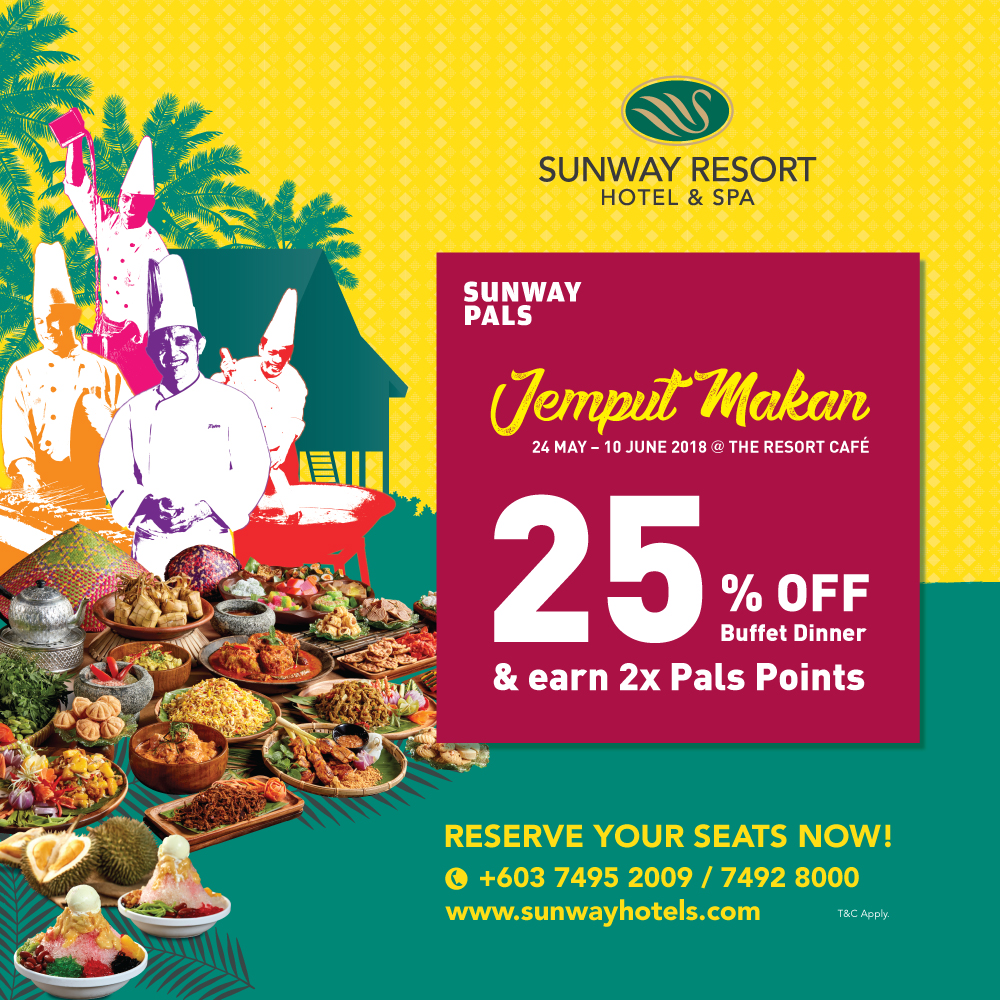 25% off + 2x Pals Points on Buffet Dinner