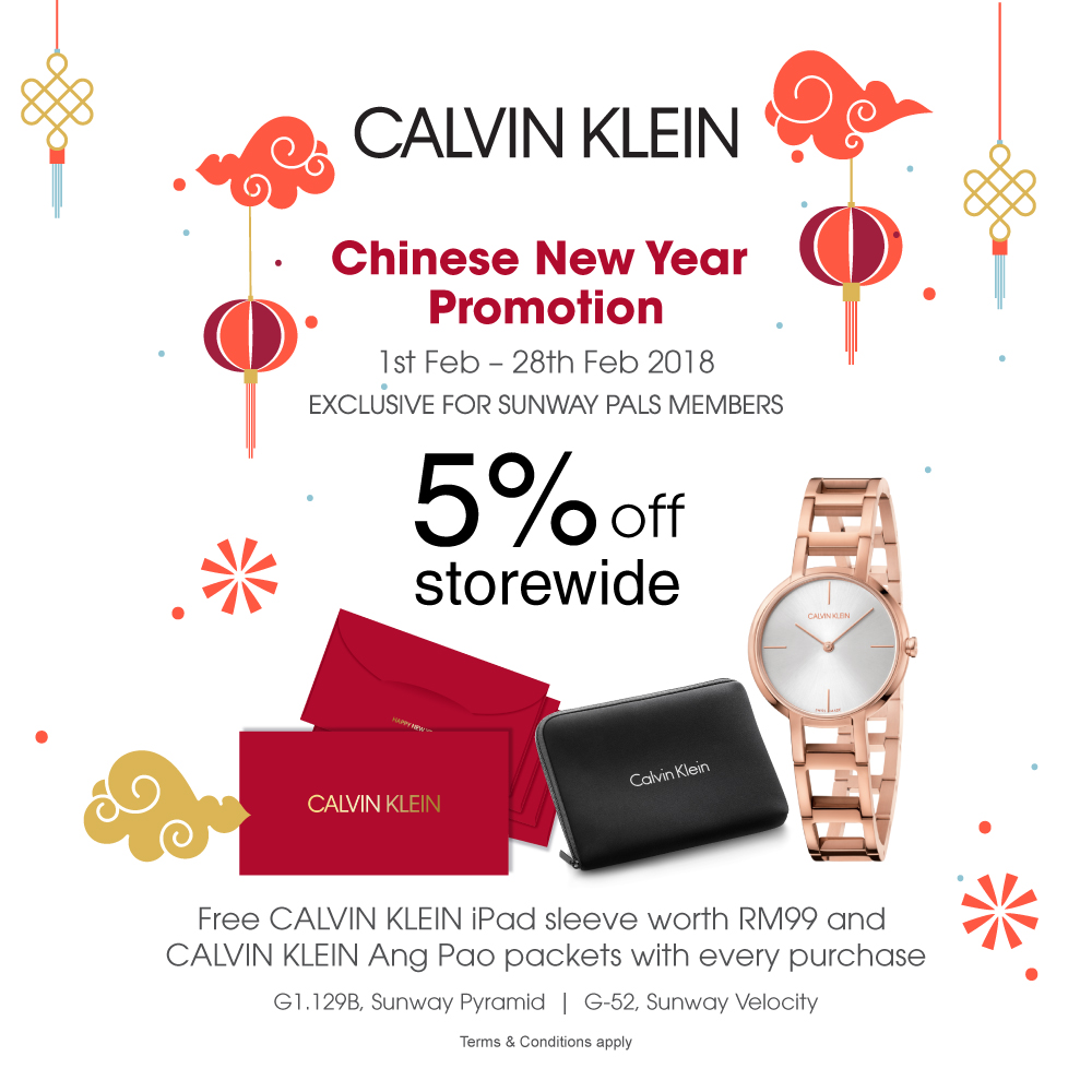 CALVIN KLEIN Chinese New Year Promotion