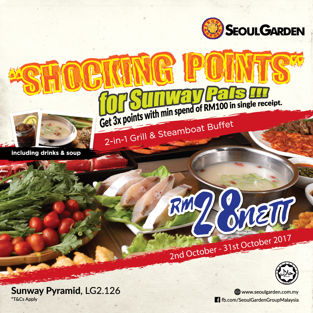 Get 3x points with minimum spend of RM100
