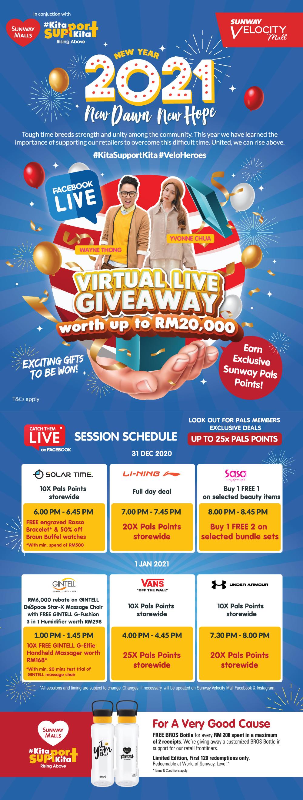 2021 Countdown: Virtual Live Giveaway