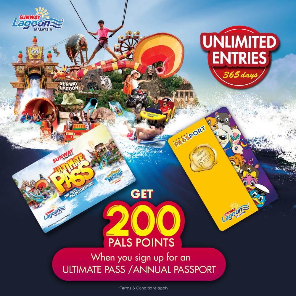 Earn Pals Points when you purchase an Ultimate Pass/Annual Passport