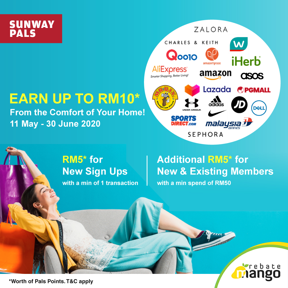 Earn up to RM10 worth of Pals Points
