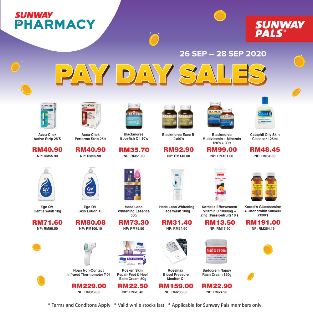 Pay Day Sales from RM13.50!
