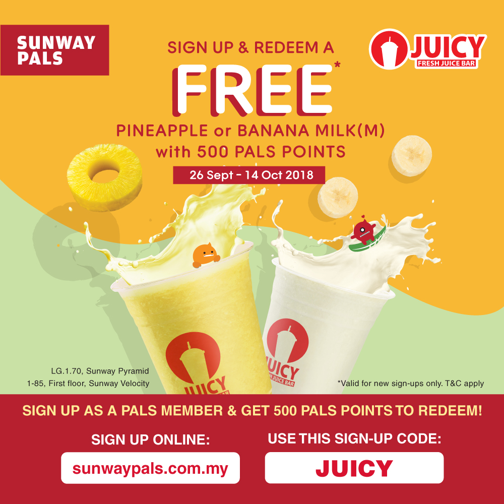 Sign Up & Redeem a FREE Drink!
