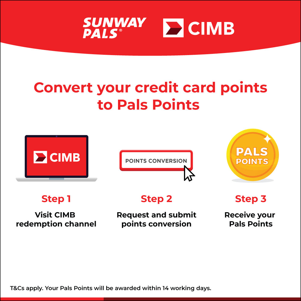 Convert CIMB Credit Card points to Pals Points