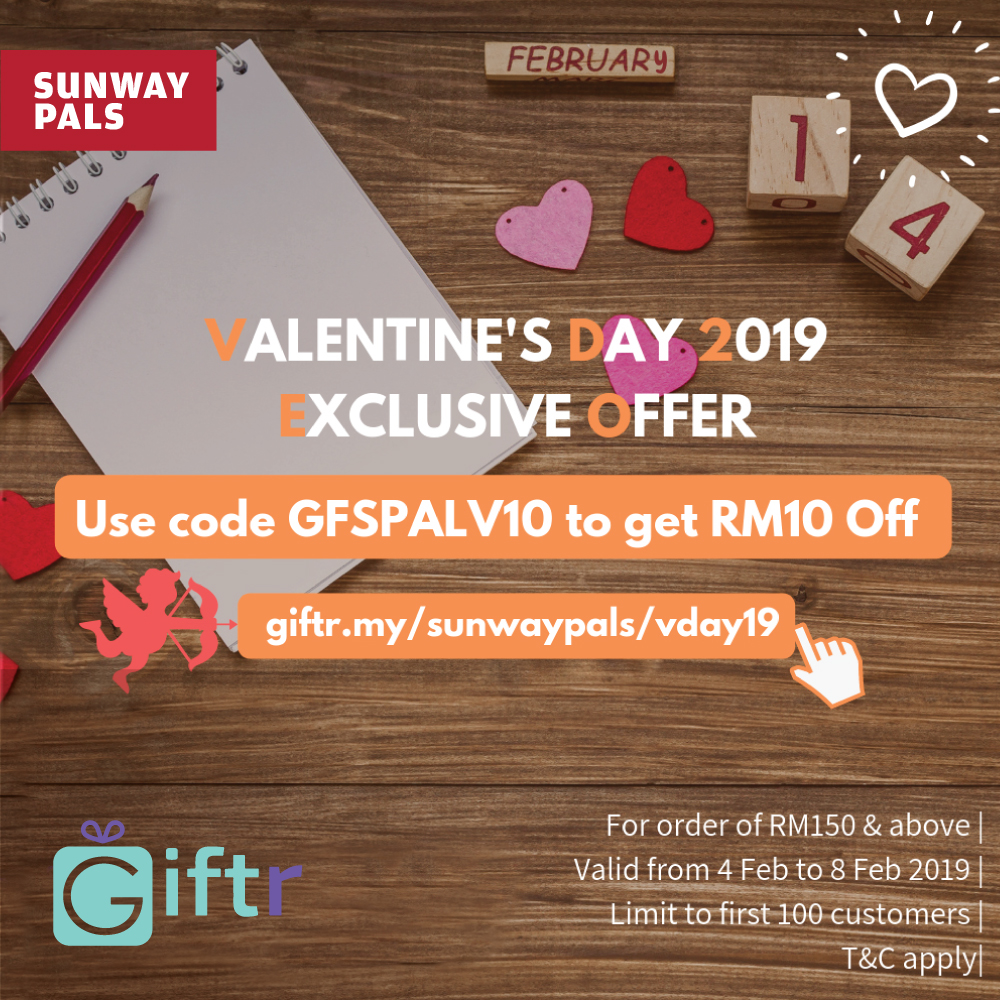 RM10 off on Valentine's Gift