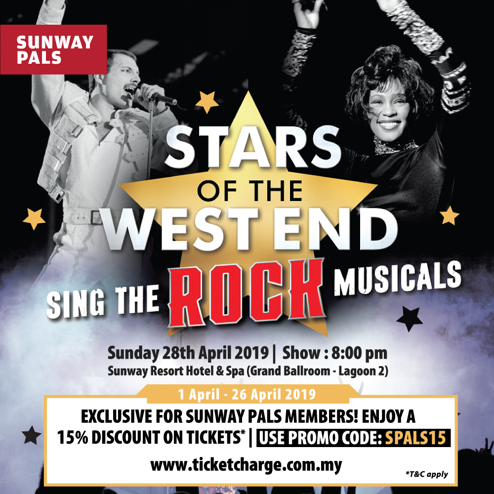 15% Discount for the 'Stars of West End Sing The Rock Musicals' tickets