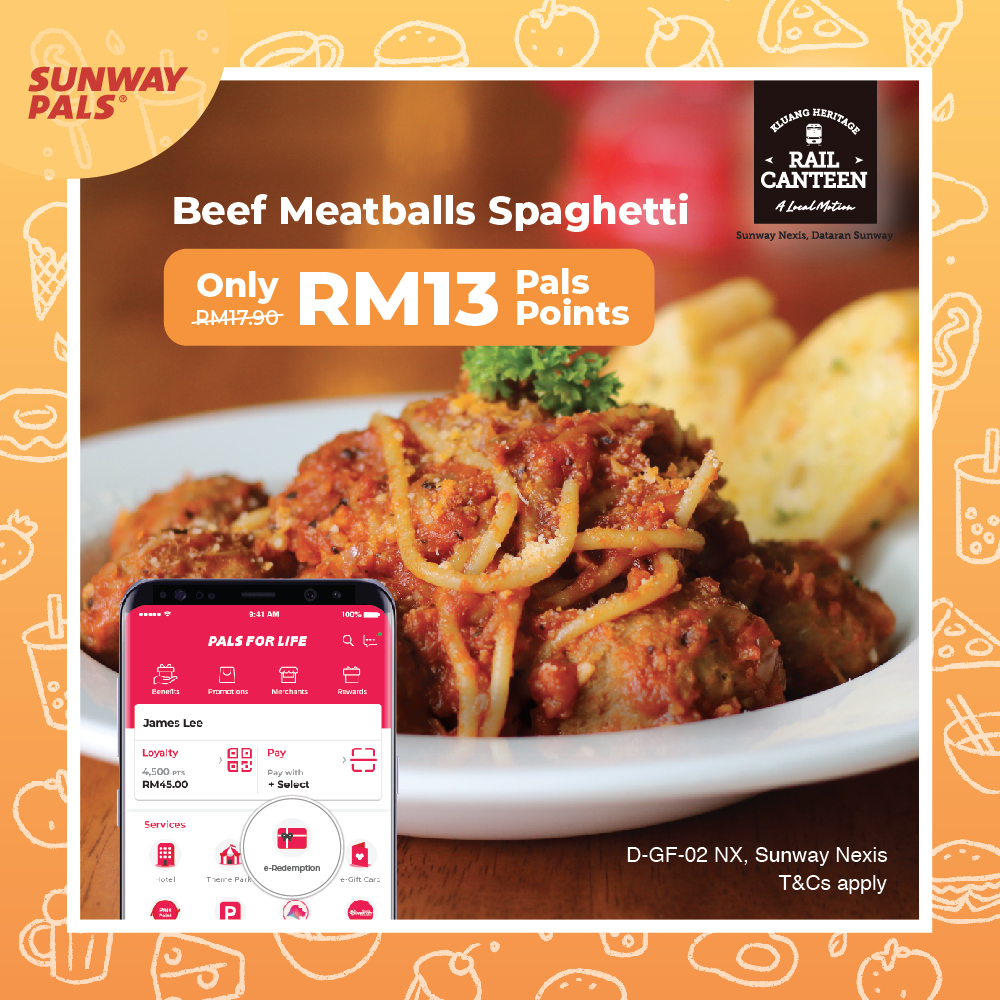 Beef Meatballs Spaghetti for RM13