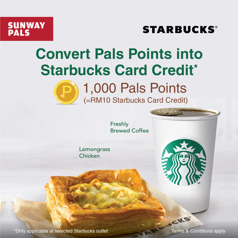 Convert Pals Points to Starbucks Card Credit