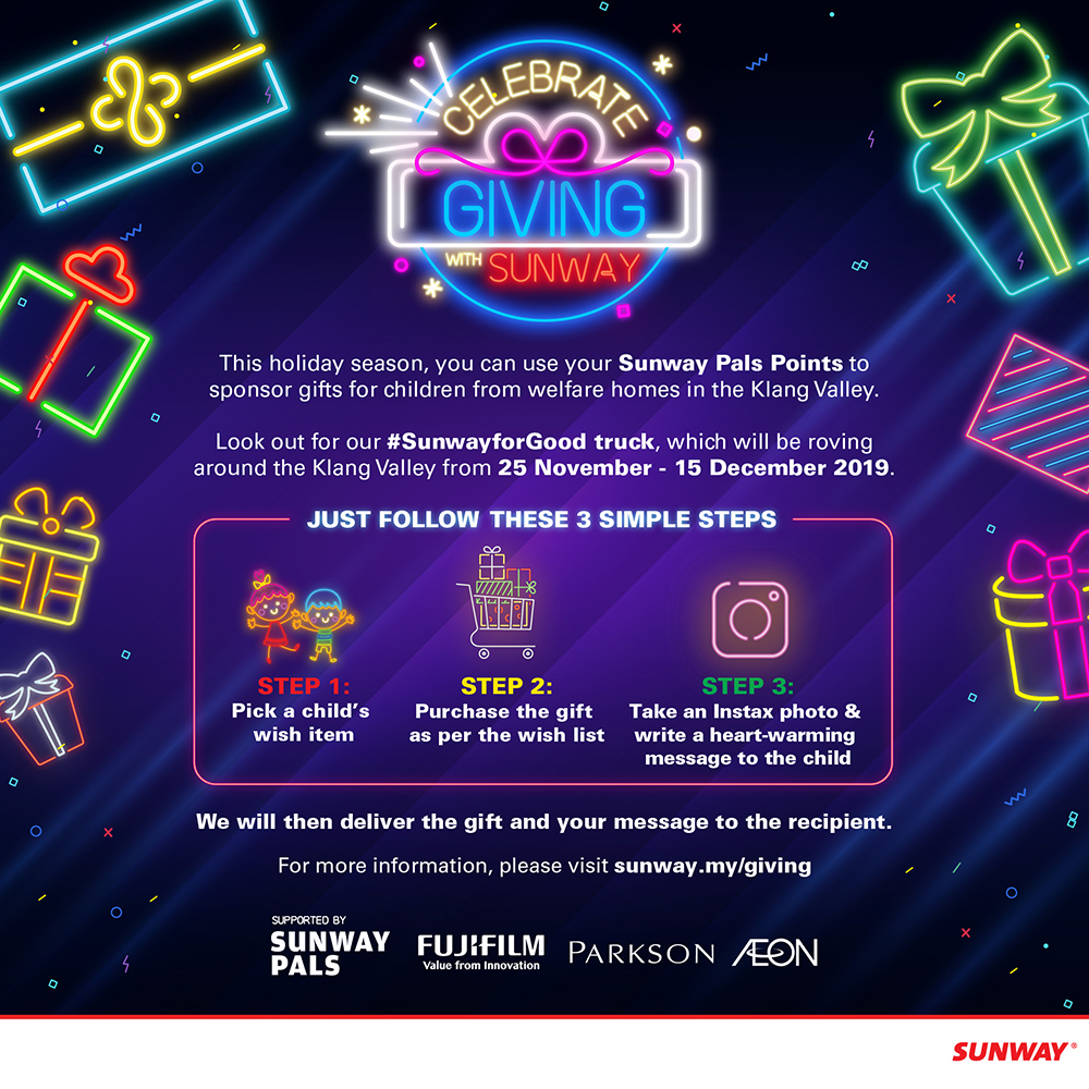 Celebrate Giving With Sunway