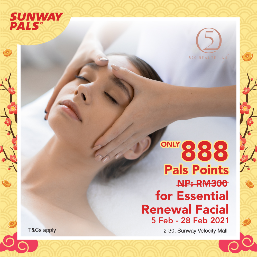 ONLY RM8.88 for Essential Renewal Facial