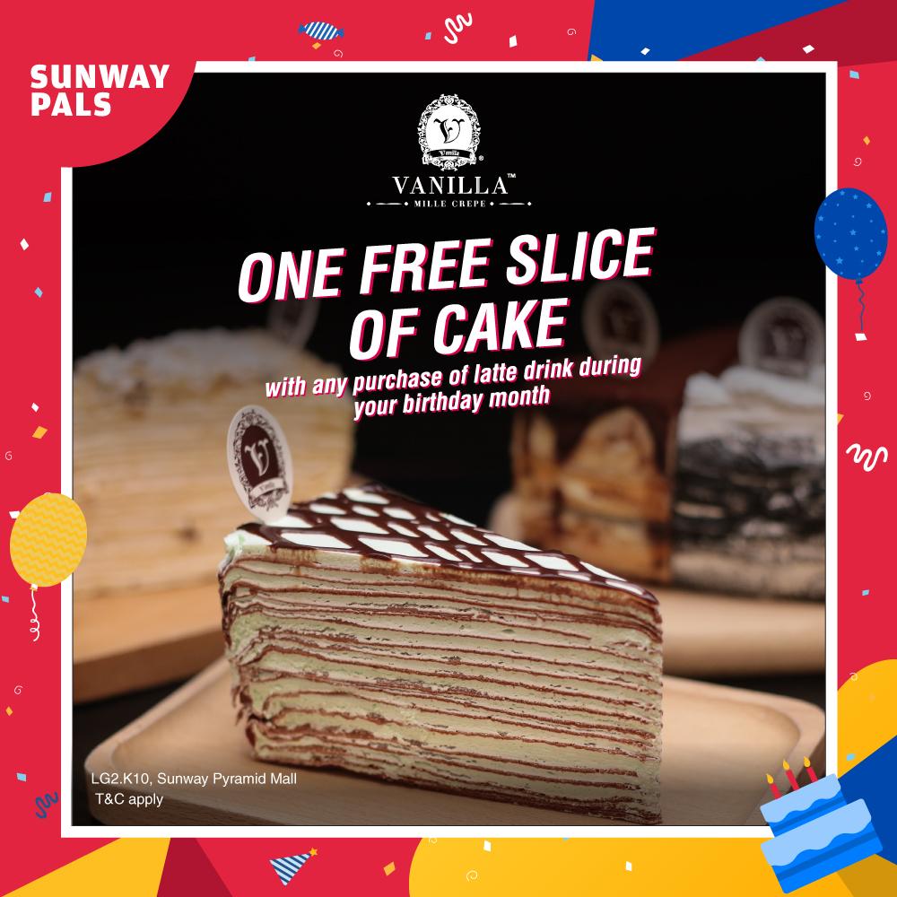 FREE Slice of Cake