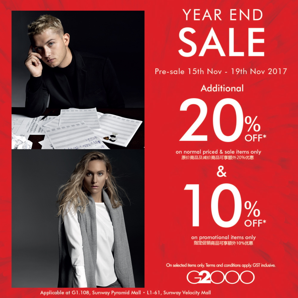 G2000 year-end sale
