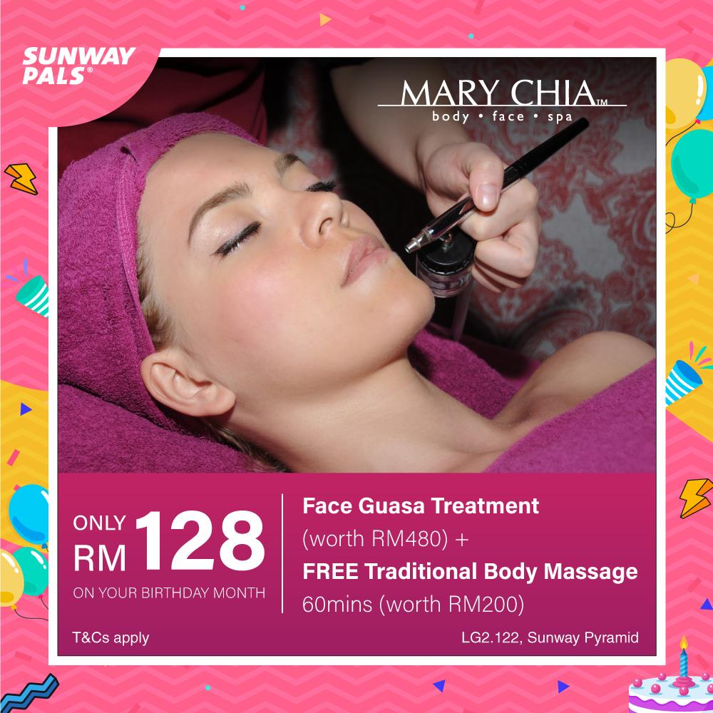 RM128 Face Guasa Treatement + FOC 1 Hour Traditional Massage