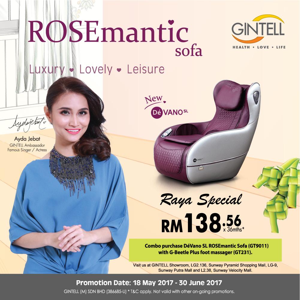 Dé Vano SL ROSEmantic Sofa + G-Beetle Plus Foot Massager at RM4,988