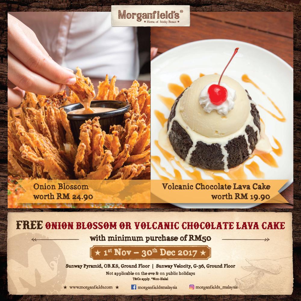 Morganfield's dessert promotion