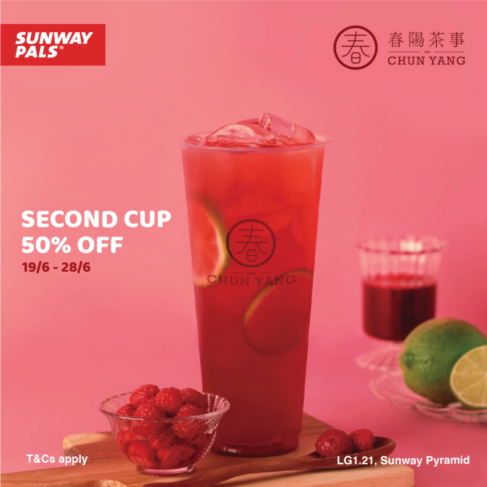 50% OFF for 2nd Cup