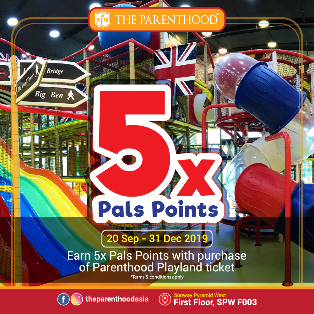 5x Pals Points on Playland Admission Tickets