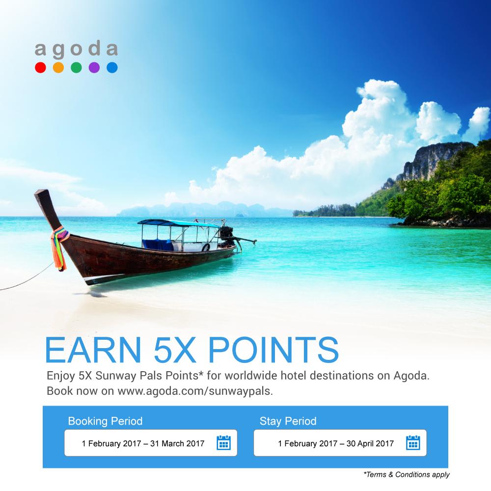 Agoda Earn 5X Points