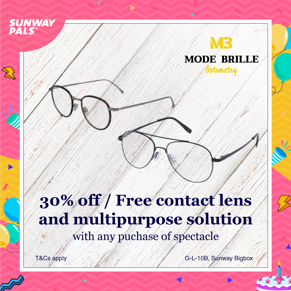 30% OFF STOREWIDE + FOC contact lens and multipurpose solution!