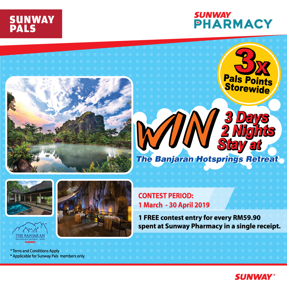 3x Pals Points storewide + 3D2N at The Banjaran Hotsprings Giveaway