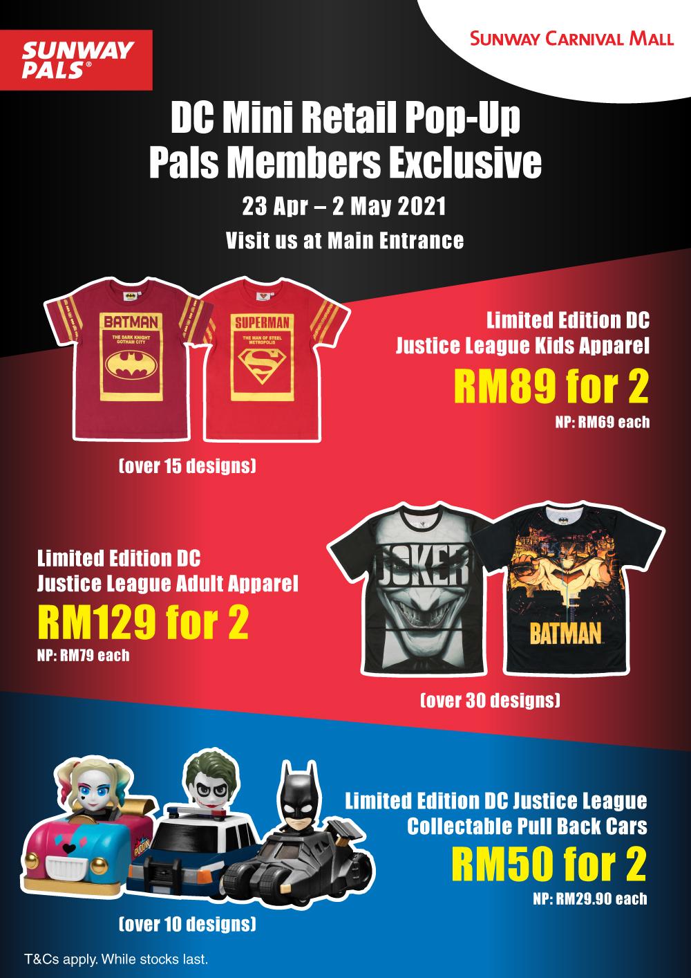 Member Price On L.E. DC Merchandises