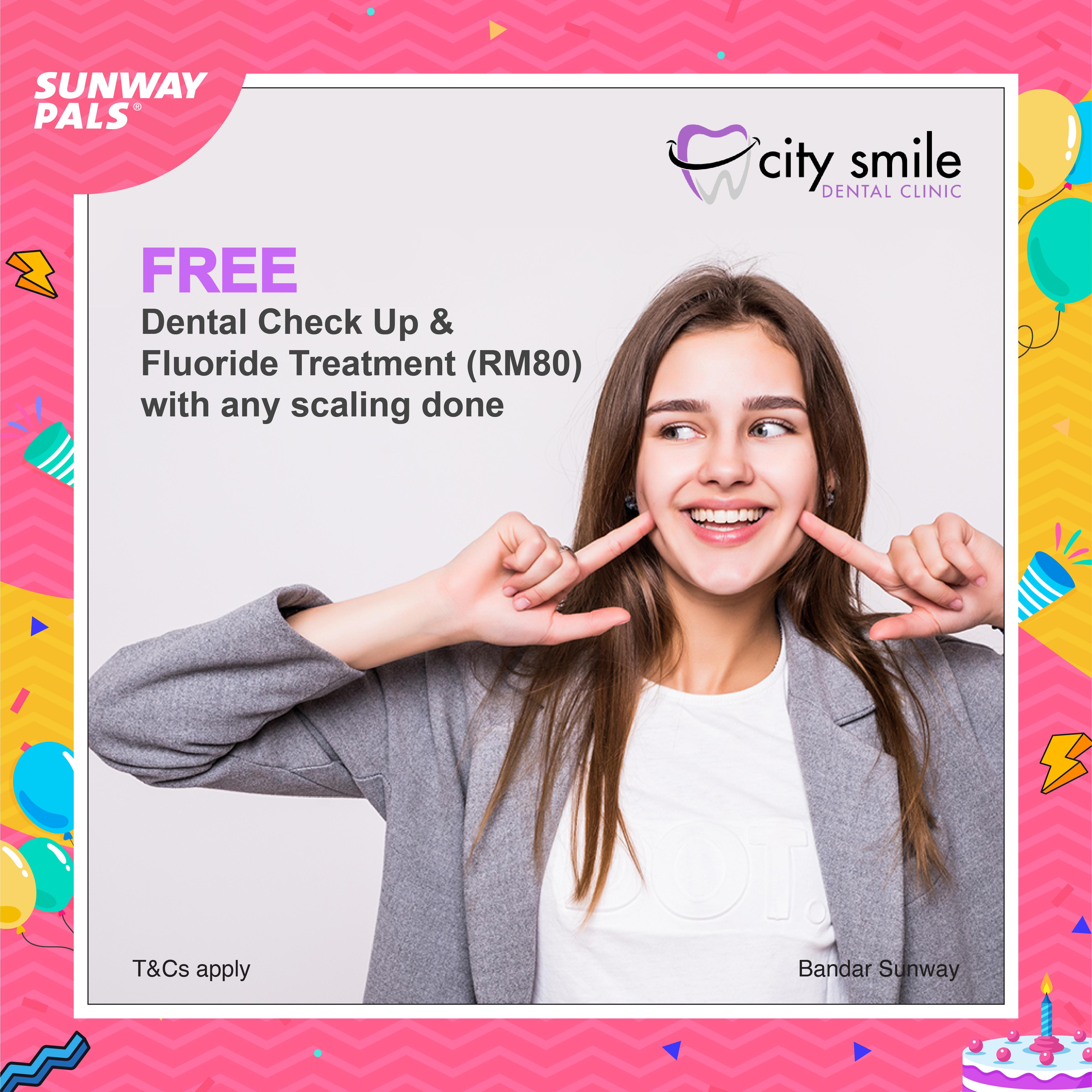 FREE Dental Check-up & Fluoride Treatment