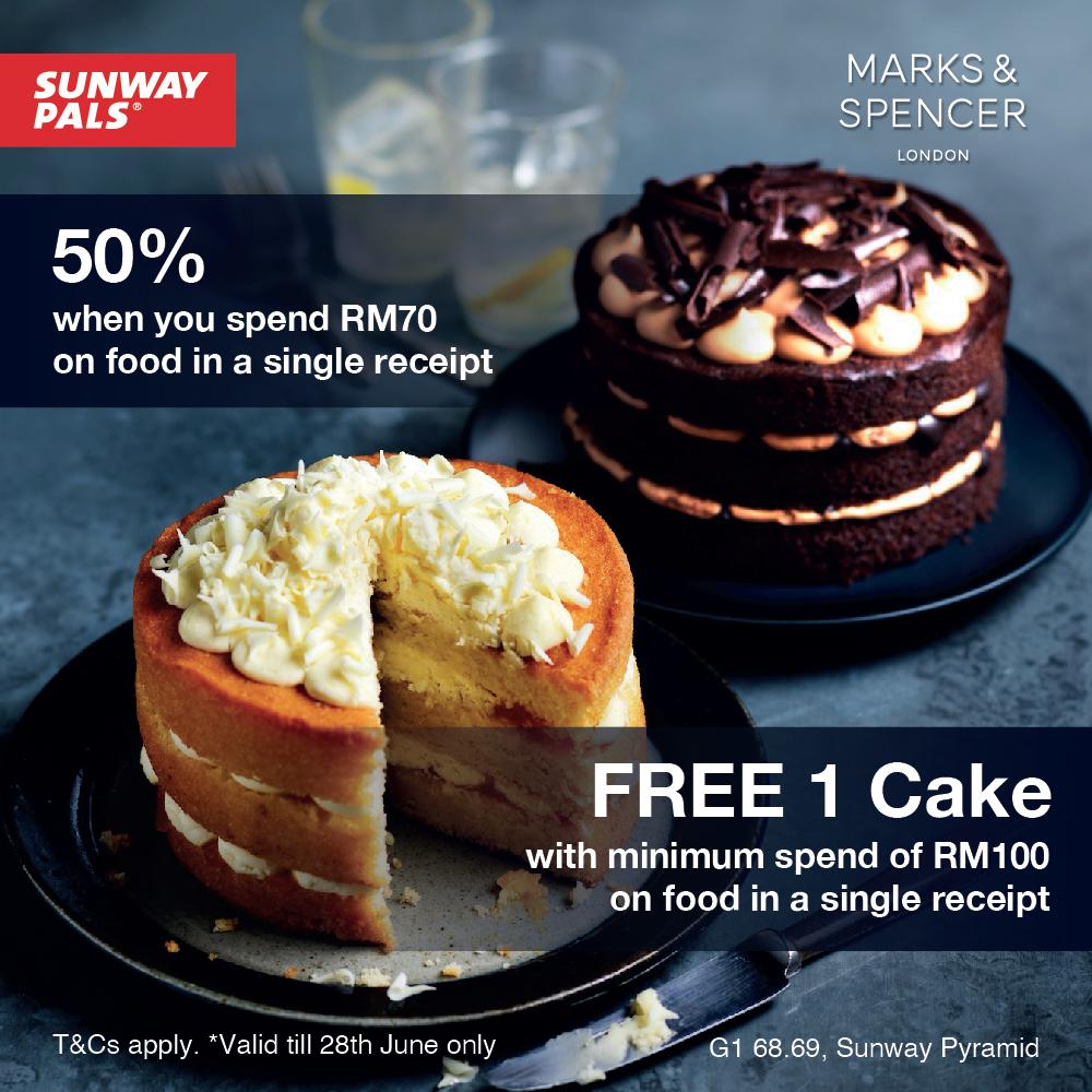 50% OFF & FREE cake