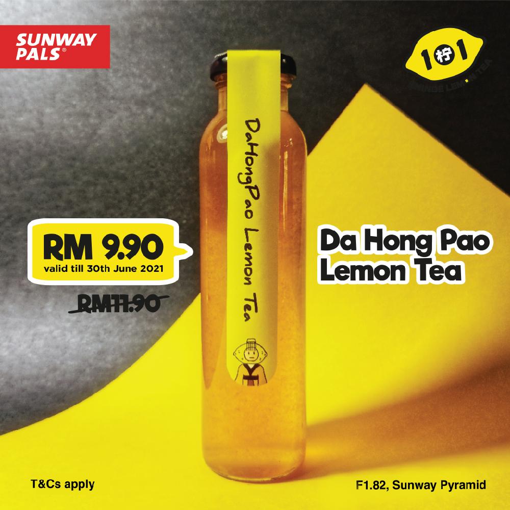 DaHongPao Lemon Tea for RM 9.90